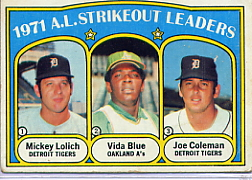 1972 Topps Baseball Cards      096      Mickey Lolich/Vida Blue/Joe Coleman LL